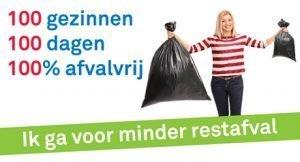 Uitdaging- 100 gezinnen, 100 dagen, 100% afvalvrij